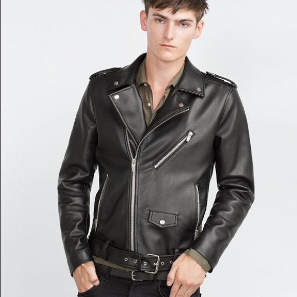 timeless design 57dca 518b6 Zara Men s Black Motorcycle Belted Biker Jacket. M 5ad562affcdc31beee567a8e